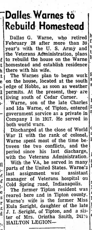 Tipton Tribune 13 Mar 1954 pg 5 col 4 - DalteV/arnesto Rebuild Homestead Dallas G....