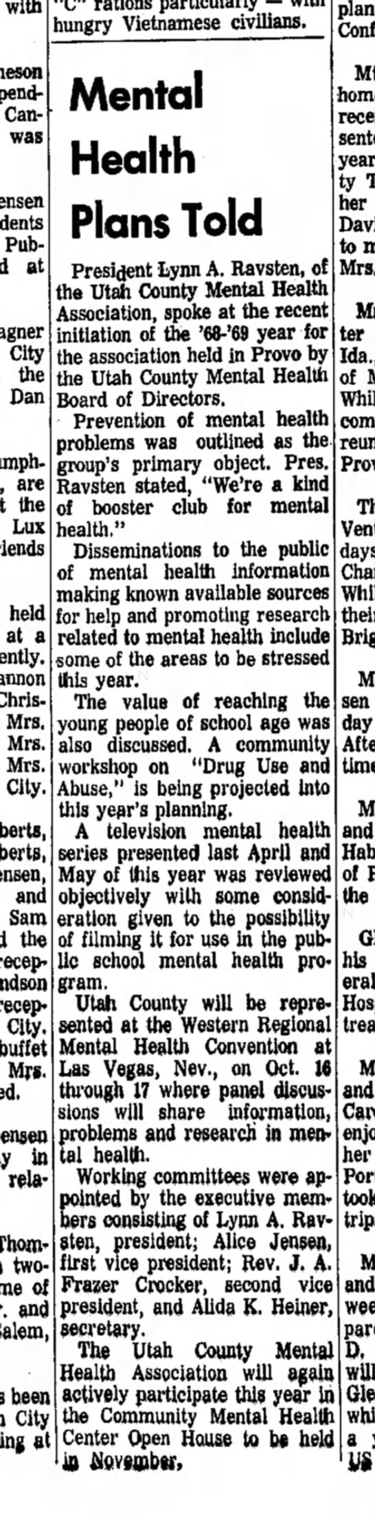 Sept 19, 1968 - Daily Herald - Thursday - with spending Canyon was Publications at City...