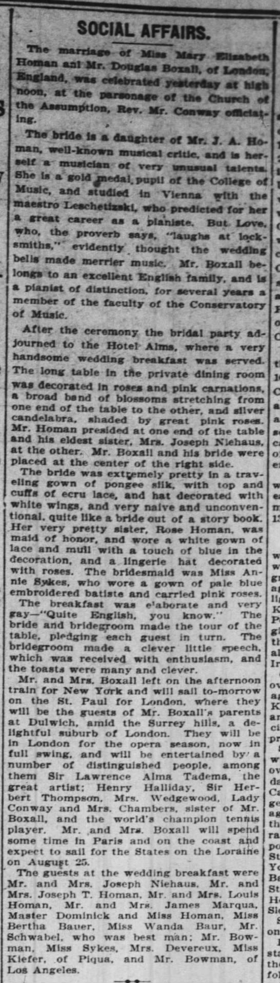 Mary Elizabeth Homan & Douglass Boxall Wedding -
