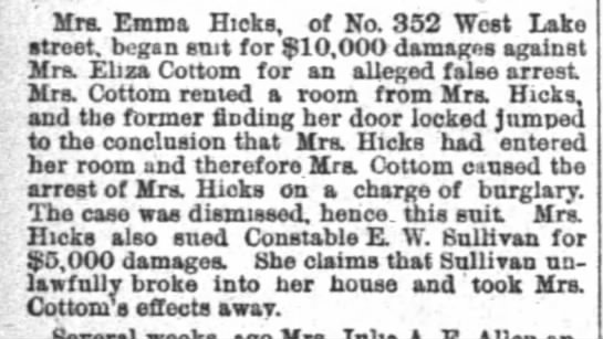 Eliza Cottom - probably not a relative -