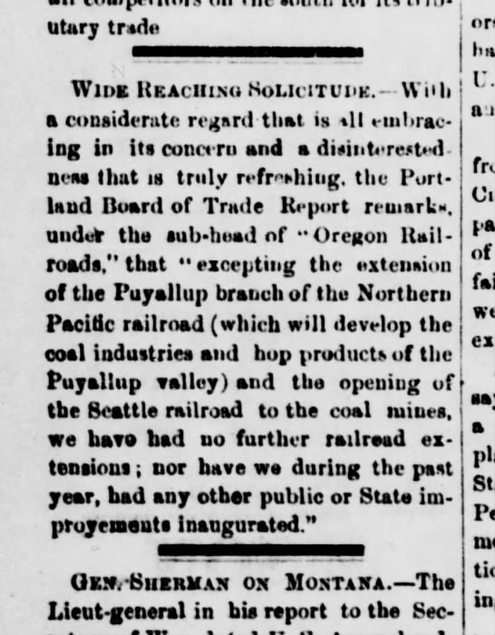 NPRR in Puyallup, 1877 -