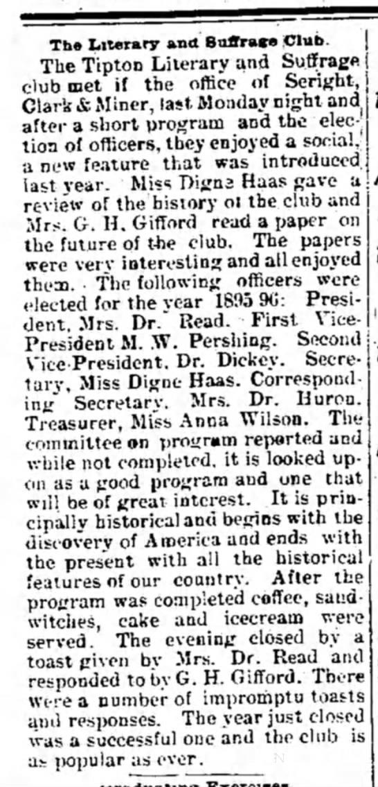Tipton Advocate, 17 May 1895.  [John Q. B. Seright] -
