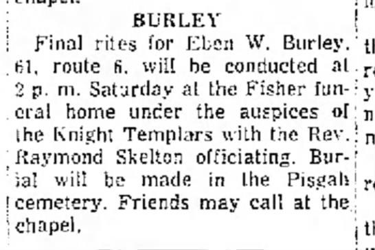 Eben Burley 23 Aug 1956 Logansport Pharos -