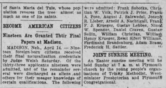 August Salzwedel - Nebraska State Journal - 15 Apr 1922, Page 5 - of Santa Maria del Tule, whose population...