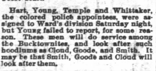 First evidence of Carter Temple on IPD (May 13, 1876).  Left off earlier edition. -