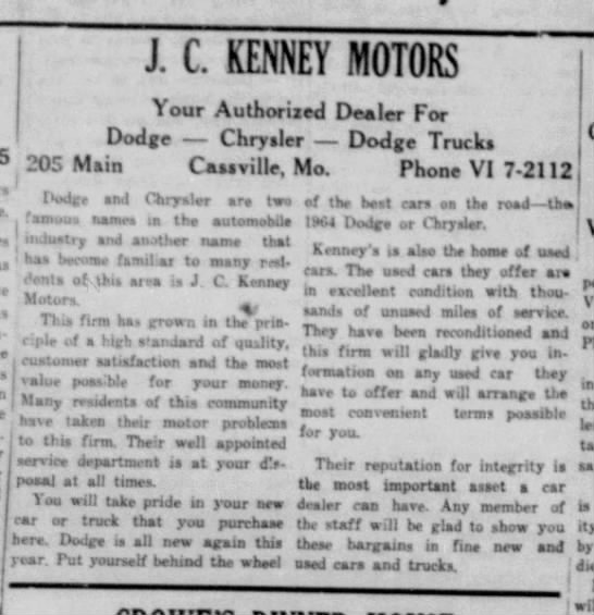 J.C. Kenny Motors