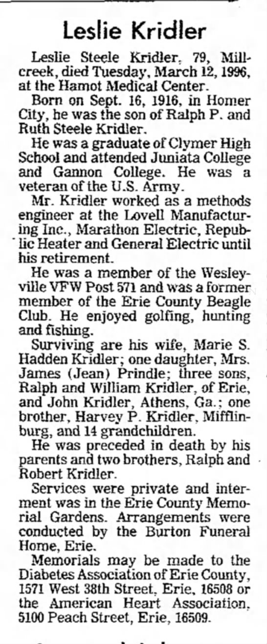 Indiana Gazette (Pennsylvania) 18 August 1978, p. 24 -
