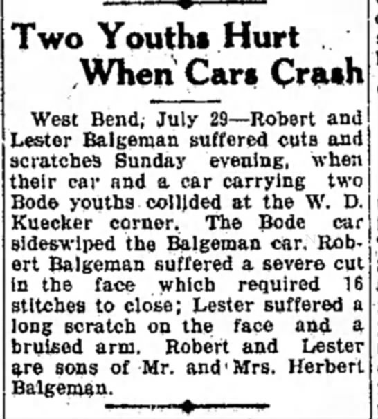 Lesters Car Crash