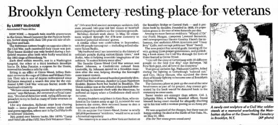 Article about Green-wood Cemetery -