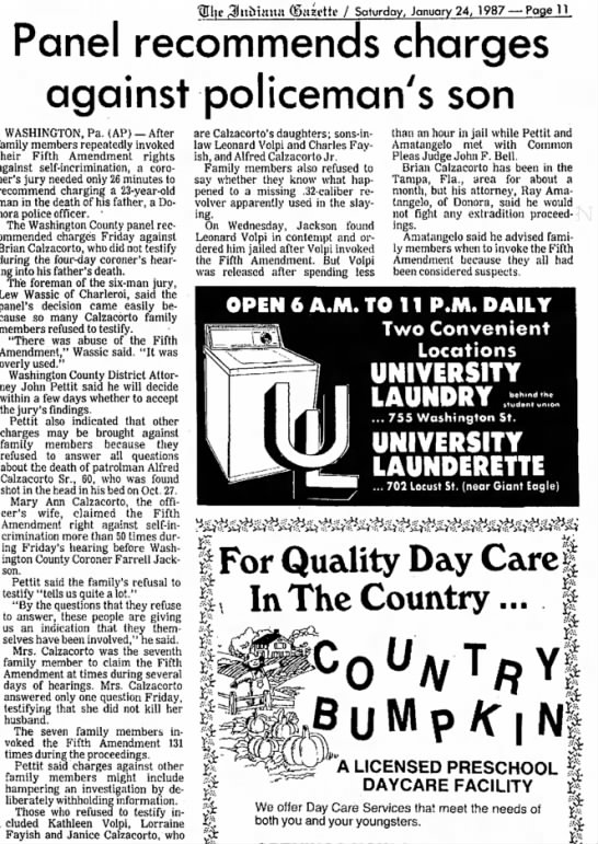 March 1987 Indiana Gazette -