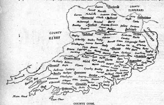 County Cork Map