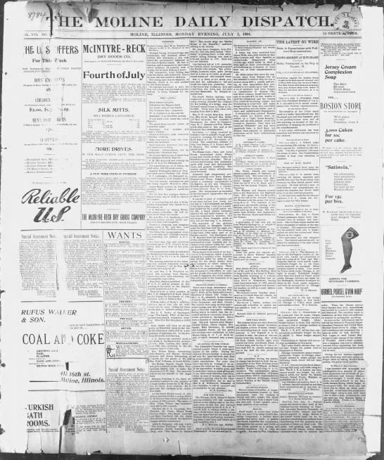 The Moline Daily Dispatch - July 2, 1894 -