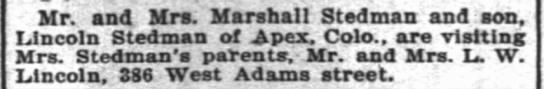 Marshall Myrtle Lincoln Stedman The Inter Ocean Chicago IL 6 April 1902 -