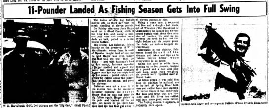 Fish caught on W.H. Marchbanks farm -