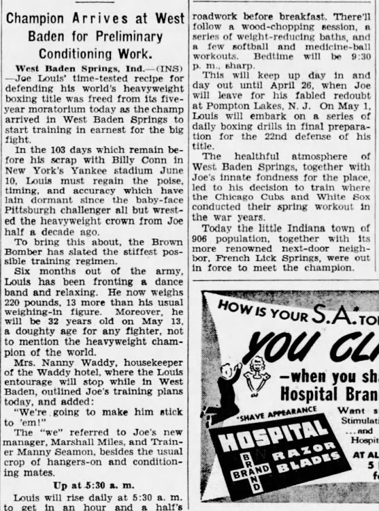 Joe Louis stayed at the waddy hotel -