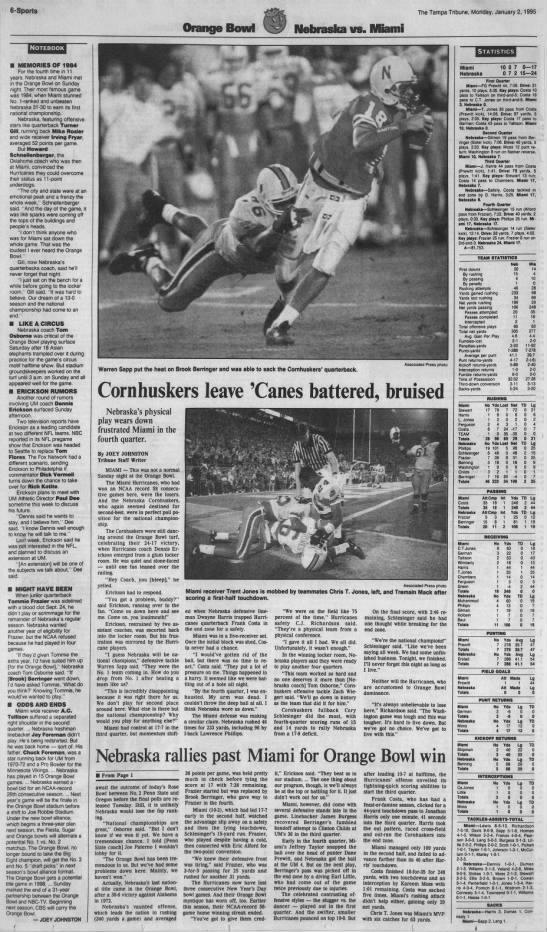 1995 Orange Bowl, Tampa3 -
