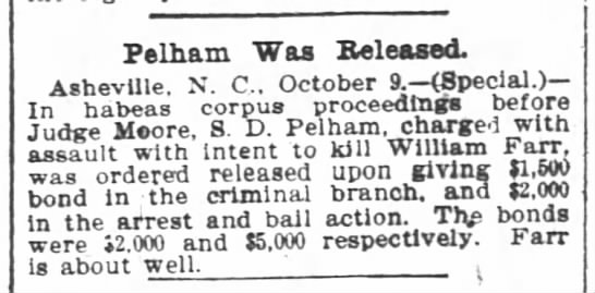 1901-10-10 FARR WILLIAM - ASSAULTED BY JUDGE MOORE - sedtngs before knf'William Farr. was ordered...