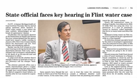 2017 9 22 state official faces key hearing in Flint water