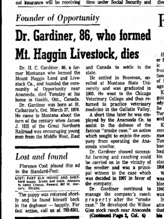 Montana Standard-Post •  02-February-1966 -