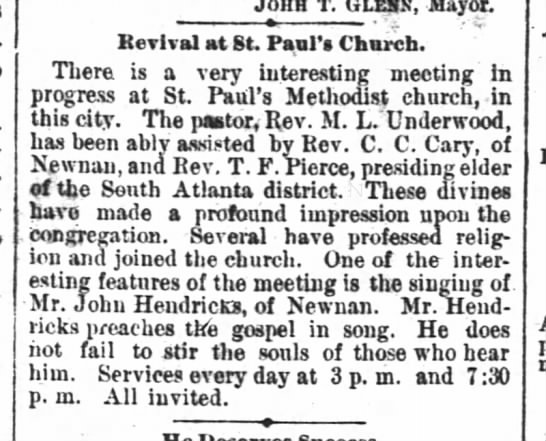 - Johh T. (im.v, Mayor Revival at St. Paul's Chm...
