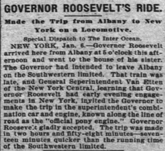 - GOVERNOR ROOSEVELT'S RIDE. Maa k Trl froaa...