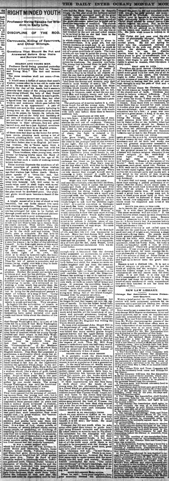 mar 21 1892 right minded youth? -