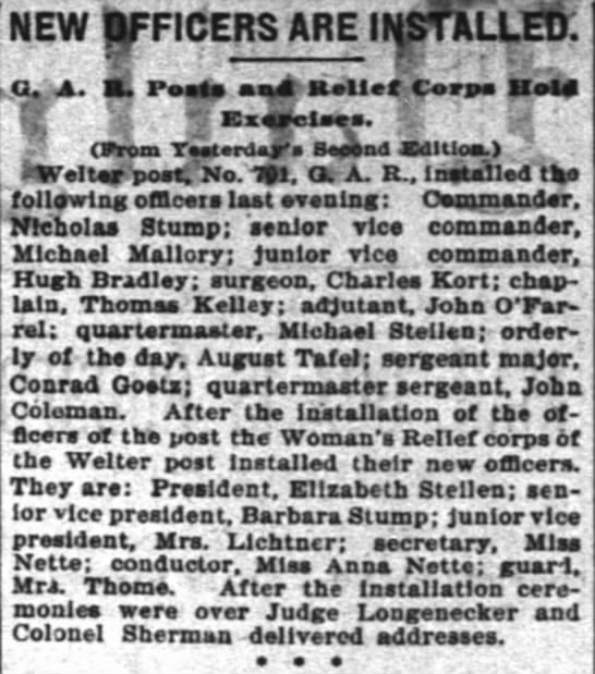 from The Inter Ocean (Chicago, Illinois) 15 Jan 1898 -