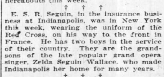 Edward Seguin in WWI -