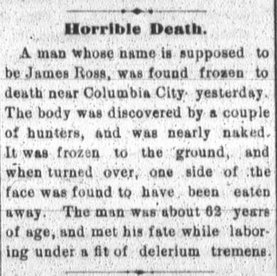 - Horrible Death A man whoso name Is supposed to...