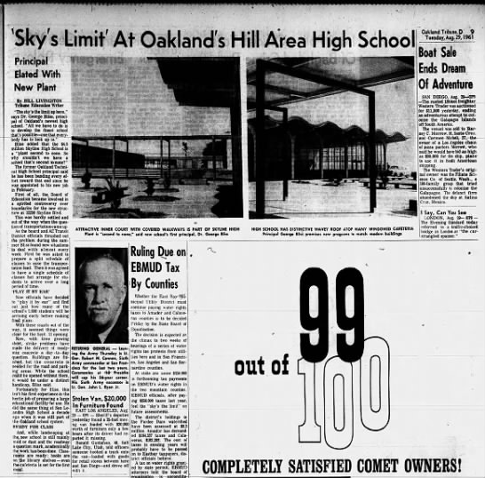Sky's Limit ar Oakland Hill Area High School  Aug 29, 1961 -