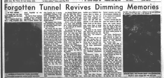 Tunnel under the McDermot home - West Oakland March 1961 -