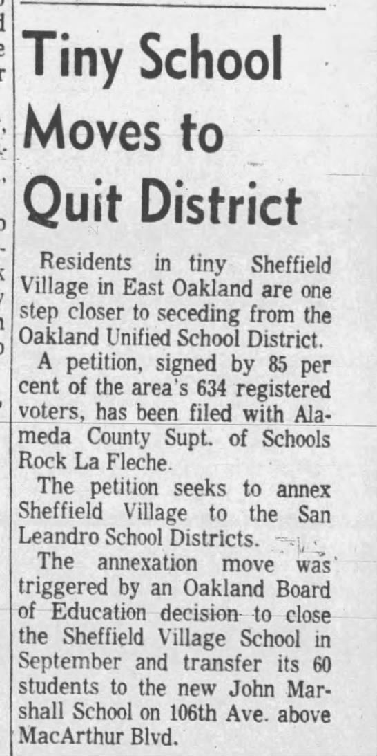 Tiny School Moves to Quit District - May 08, 1963 -