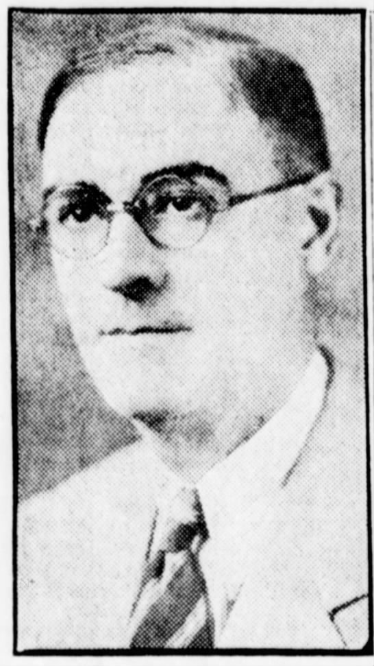 1937 Newspaper photo of William Warmington -
