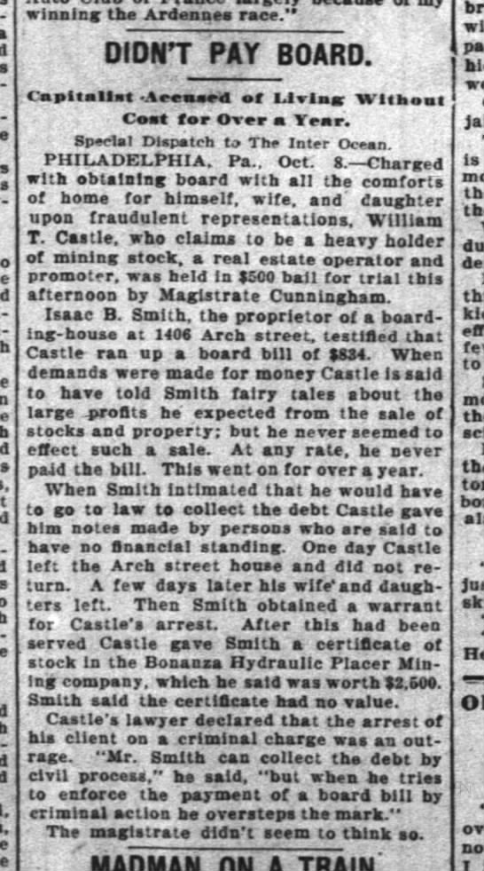 WT Castle arrest -