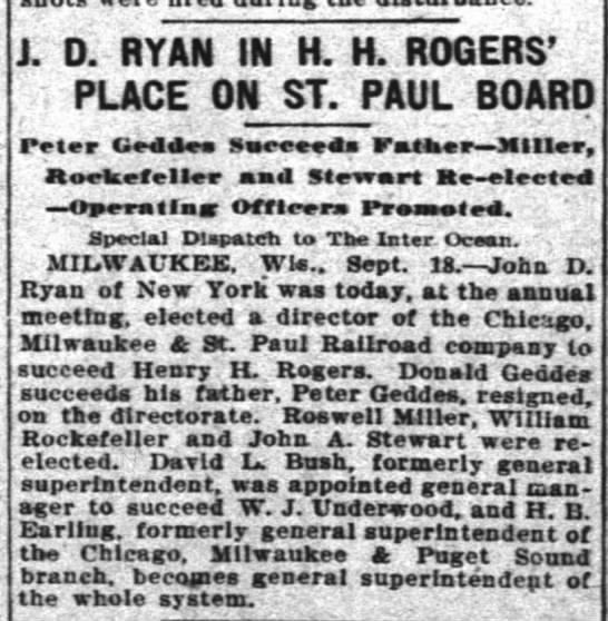 - J. D RYAN IN H. H. ROGERS' PLACE ON ST. PAUL...