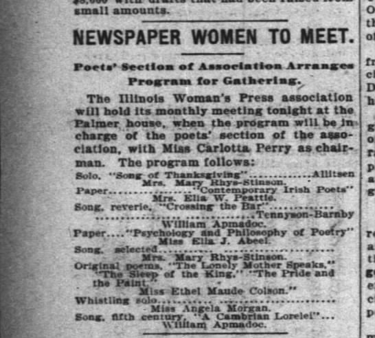 ill woman's press meeting inter ocean chicago march 3 1904 -