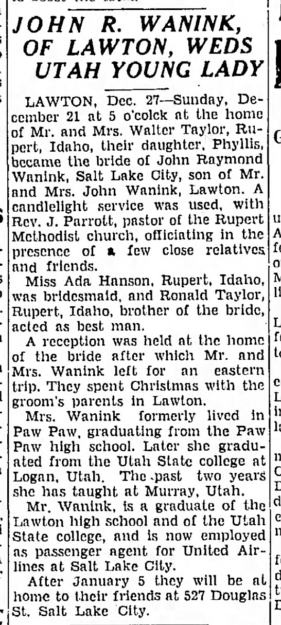 the news palladium benton harbor 27 Dec 1941 -