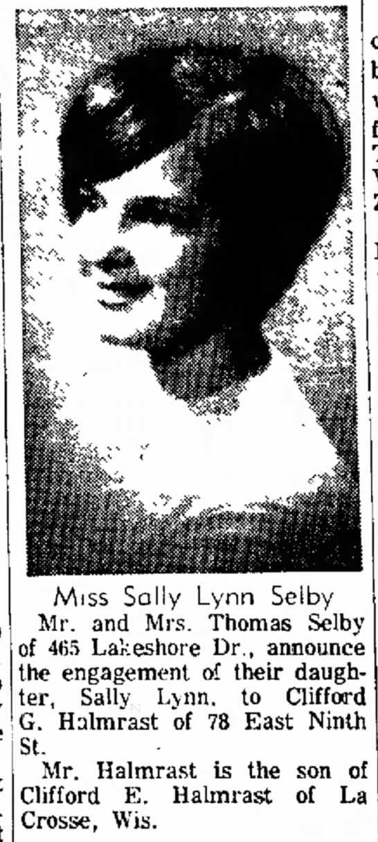 Sally Lynn Selby, Thurs 9 Dec 1965 pg 8 -