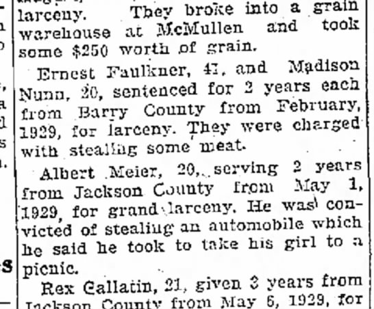 - then a They'broke into a grain at McMullen and...