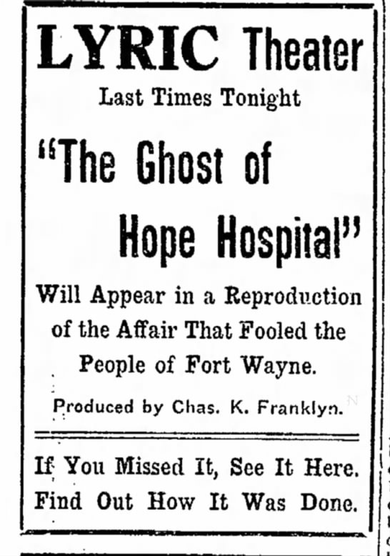 play of ghost of hope hospital -