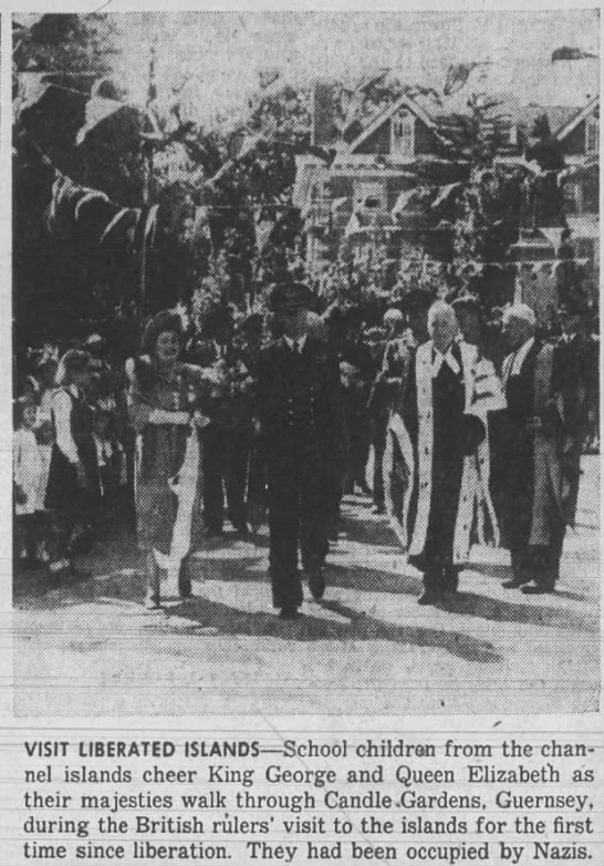 King and Queen visit Guernsey after liberation -