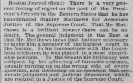 Reprinted in Chicago Tribune (Chicago, Illinois) 18 Mar 1881, page 9. -