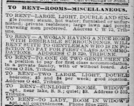 Miscellaneous maybe shady rentals -