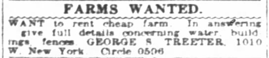 Indianapolis News January 11, 1922 Uncle George -