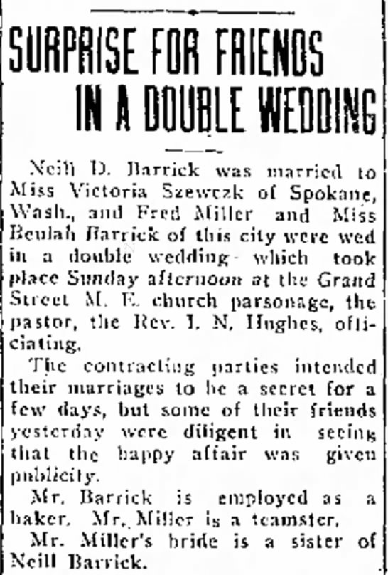 Double Weddings / Barrick -