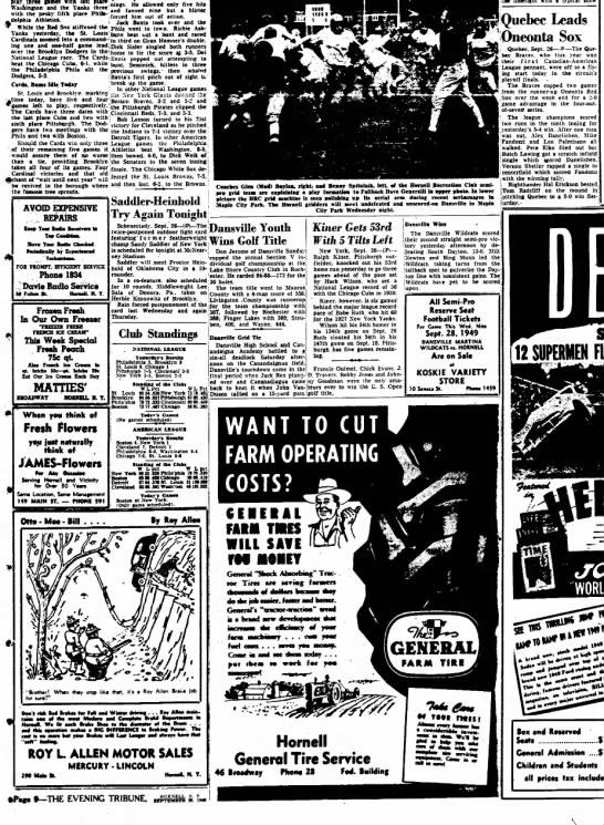 19490926 The Evening Tribune (Hornell, New York) Monday, September 26, 1949 p9 CLIP -