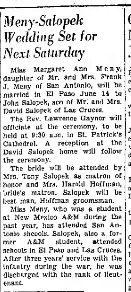 Las Cruces Sun NewsJune 6, 1947page 2 -