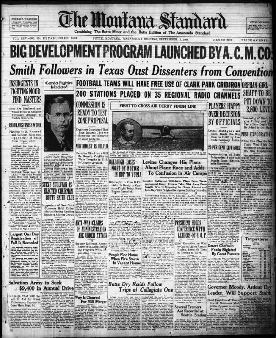 The Montana Standard - September 12, 1928 -
