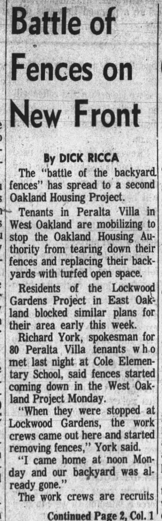 Project Fences  Jul 02 1965 -
