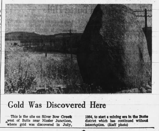Discovery of Gold in Butte -